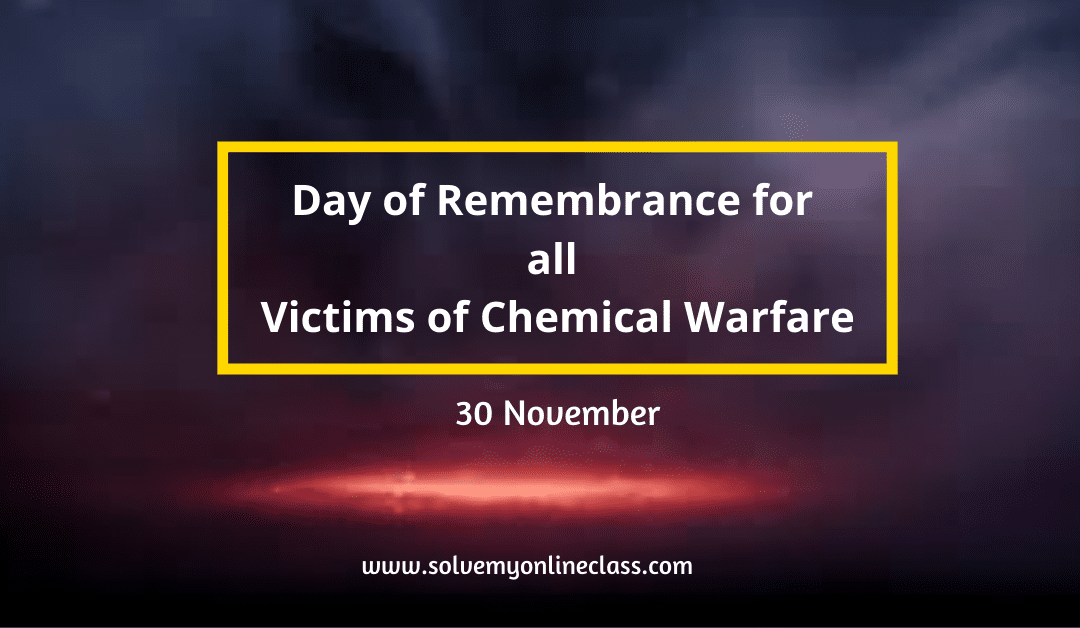 Day of Remembrance for all Victims of Chemical Warfare