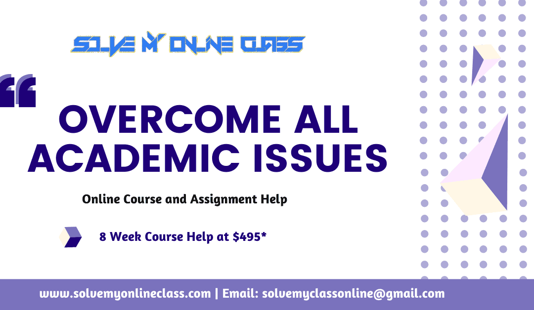 Overcome All Academic Issues: Using Online Course & Assignment Help