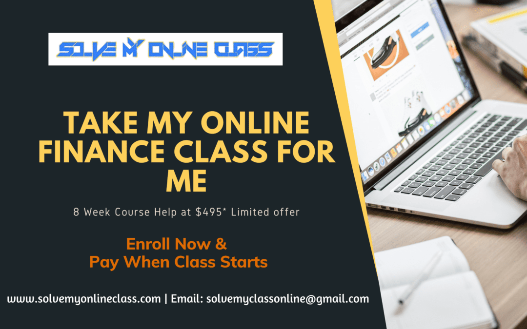 Take my Online Finance Class for Me