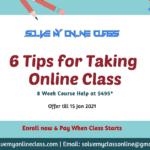 6 Tips for Taking Online Classes