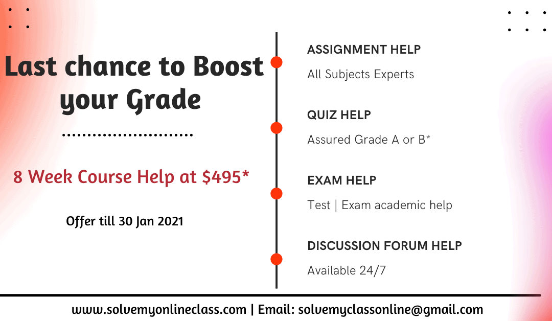 Last chance to Boost your Grade : Solve My Online Class