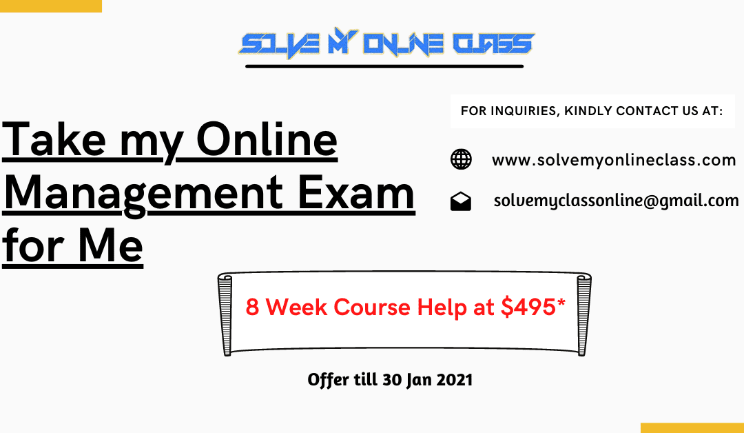 Pay someone to take my Online Management Exam for me