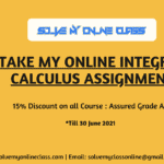 Take My Online Integral Calculus Assignment