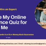 Take My Online Finance Quiz for Me